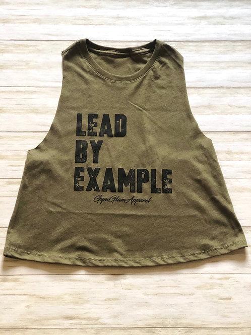 Lead By Example Crew Neck Racerback Crop