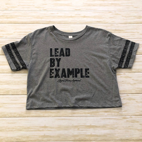 Lead By Example Scorecard Crop Tee
