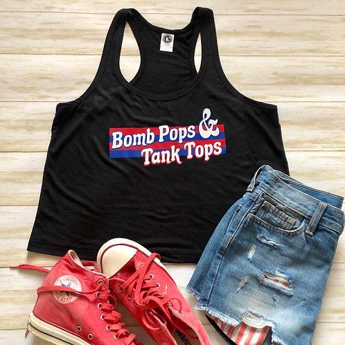 Bomb Pops & Tank Tops Flowy Racerback Crop