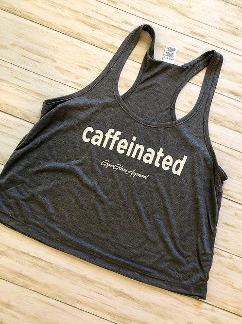 Caffeinated  Racerback Crop Tank
