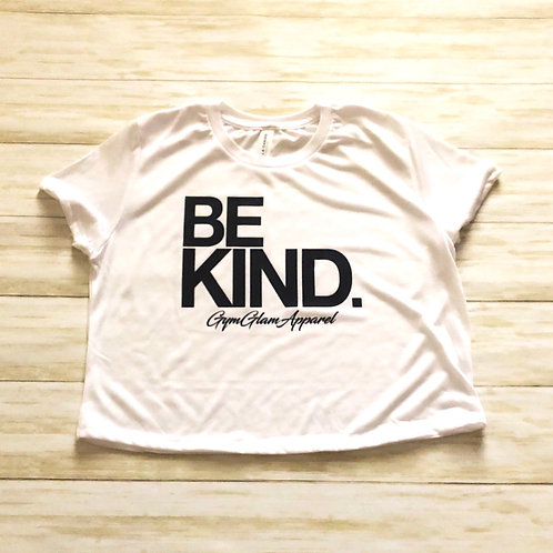 BE KIND flowy crop tee