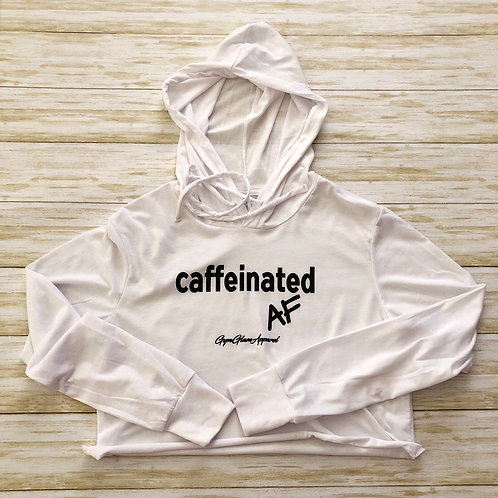 Caffeinated AF Cropped Cotton Hoodie