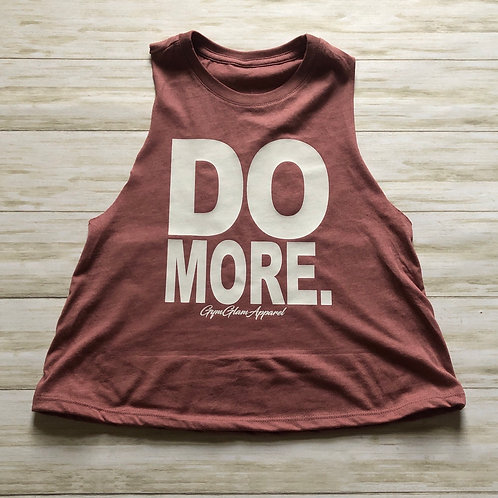 DO MORE Crew Neck Racerback Crop Tank