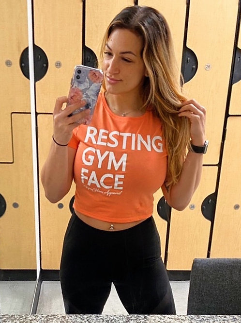 Resting Gym Face Baby Crop Tee