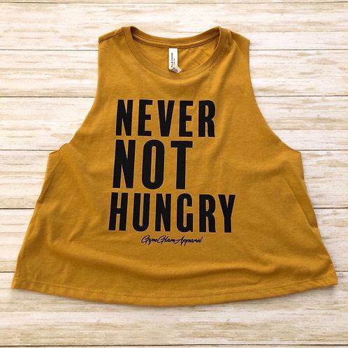 Never Not Hungry Crew Neck Racerback Crop Tank