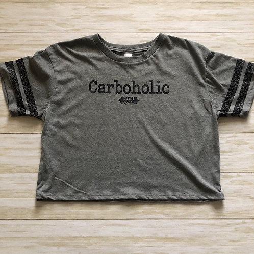 Carboholic Scorecard Crop Tee