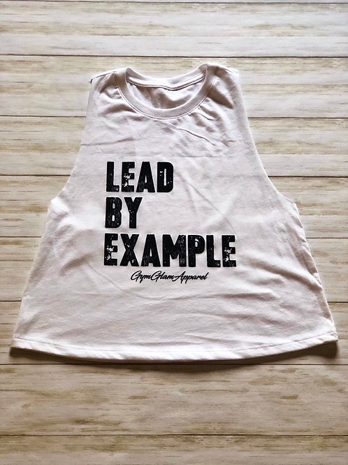 Lead By Example Crew Neck Racerback Crop