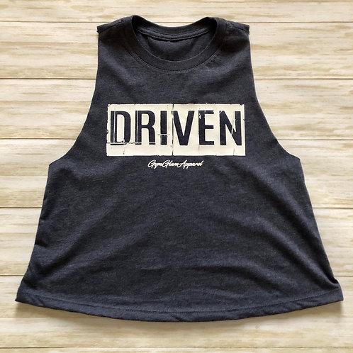 DRIVEN Crewneck Racerback Crop