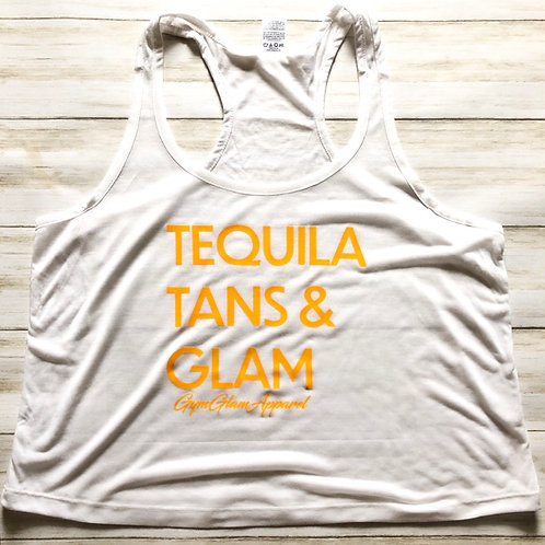 Tequila, Tans & Glam Flowy Racerback Crop