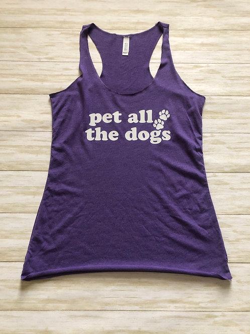 Pet All The Dogs Crew Neck Racerback Crop