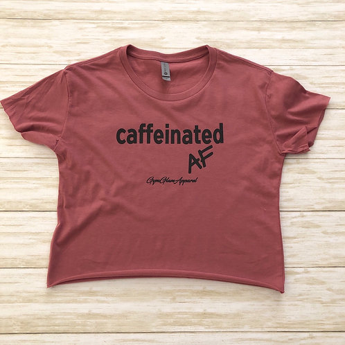 Caffeinated AF Cropped Tee