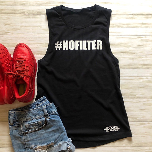 #NOFILTER Black Muscle Tank