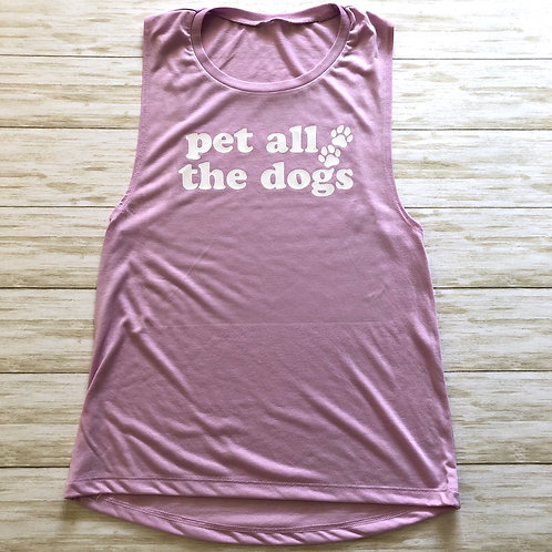 Pet All The Dogs Women's Muscle Tank
