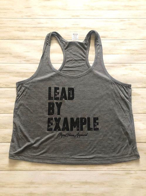 Lead By Example Racerback Crop