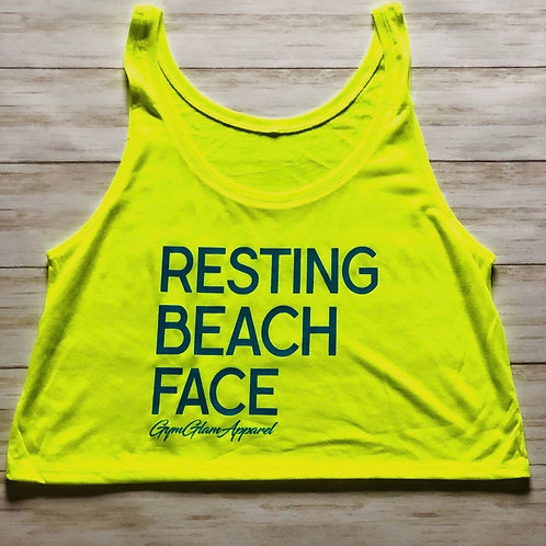 Resting Beach Face Flowy Crop