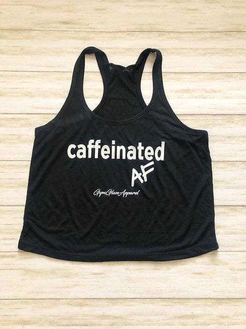 Caffeinated AF Flowy Racerback Crop