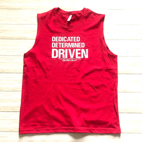 DEDICATED  DETERMINED  DRIVEN Men's Muscle Tank