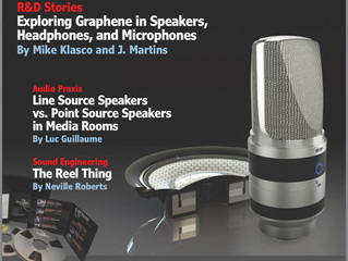 Deep Blue's Work for Graphene Audio featured on the cover of Audio XPress Magazine.