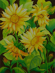 Sunflowers%2520w%2520brown%2520backgroun