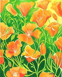 Cherie Burris - California Poppies - 300