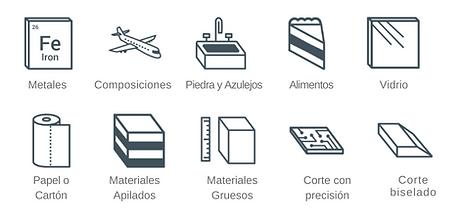materiales que corta la máquina de corte por chorro de agua, hidrocorte