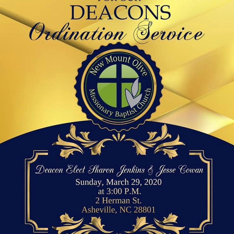 Deacon's Ordination Serice-Postponed