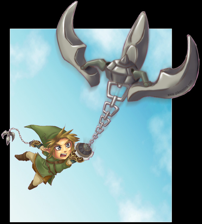Link using hookshot