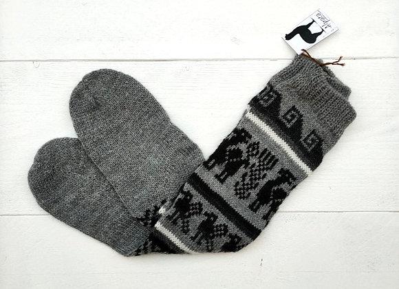 Alpaca socks - Grey