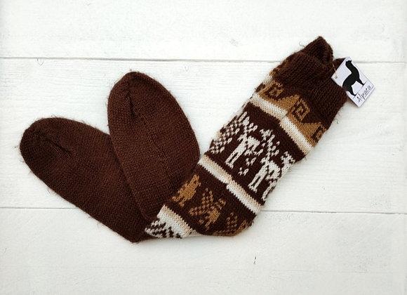 Alpaca socks - Brown
