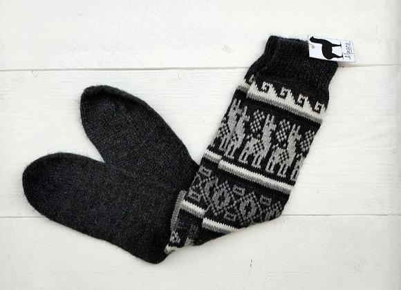 Alpaca socks - Black