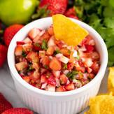Fruit Salsa w/Serrano Honey Lime Vinaigrette