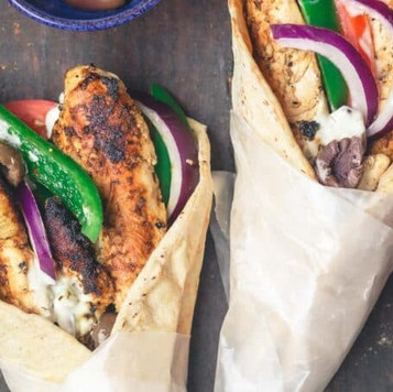 Balsamic Glazed Chicken Gyros
