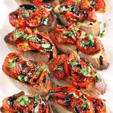 Slow Roasted Balsamic Tomatoes & Garlic