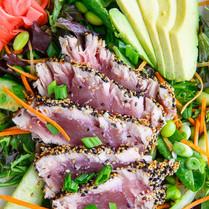 Sesame Seared Ahi Tuna Salad with Honey