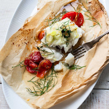 Fresh Fish En Papillote with EVOO