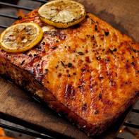 Cedar Plank Salmon-Alfoos Mango Balsamic