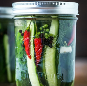 Jalapeno White Balsamic Dill Pickles
