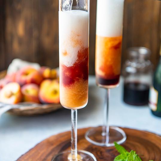 Peach Balsamic Bellini