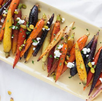 Honey Glazed Rainbow Carrots