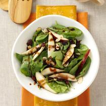 Cinnamon Pear Spinach Salad