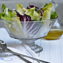 Grilled Radicchio and Romaine Salad with shaved Pecorino