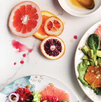 Shaved Brussel Sprout Salad with Basil Grapefruit Vinaigrette