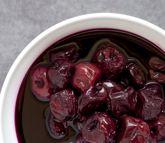 Poached Cherries in Red Wine