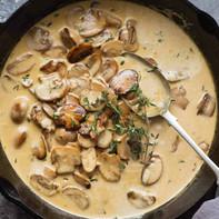 Ravioli in Mushroom Sauce
