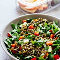 Lentil Salad with Bacon and Edamame