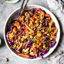 Thai Red Cabbage and Chick Pea Salad
