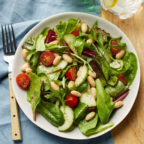 Tomato Cucumber White Bean Salad