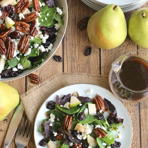 Mixed Green Salad with Maple Balsamic