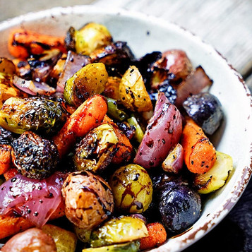 Roasted Balsamic Root Vegetables