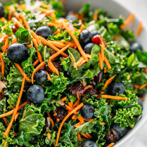 Massaged Kale Salad w/Blueberry Balsamic
